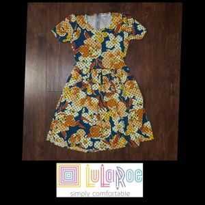 LULAROE AMELIA FLORAL DRESS SIZE SMALL